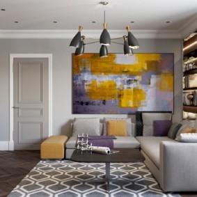 гостиная в стиле модерн фото варианты