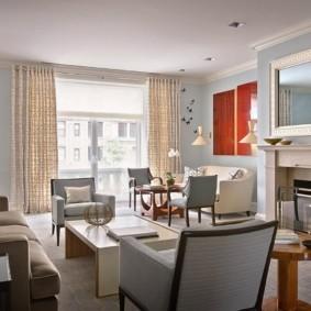 гостиная в стиле модерн идеи декора