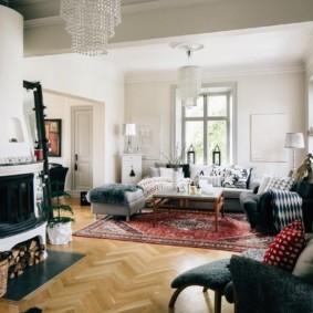 гостиная в стиле модерн оформление