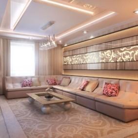 гостиная в стиле модерн оформление идеи