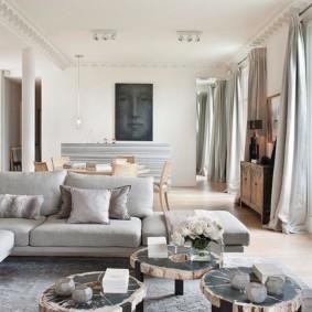 гостиная в стиле модерн виды