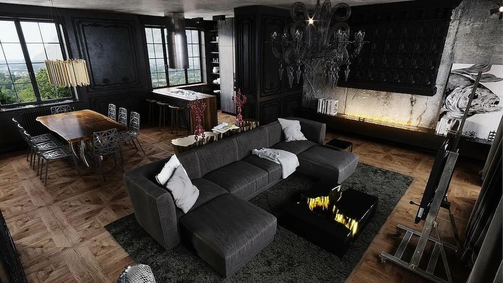 лофт и неоклассика в квартире
