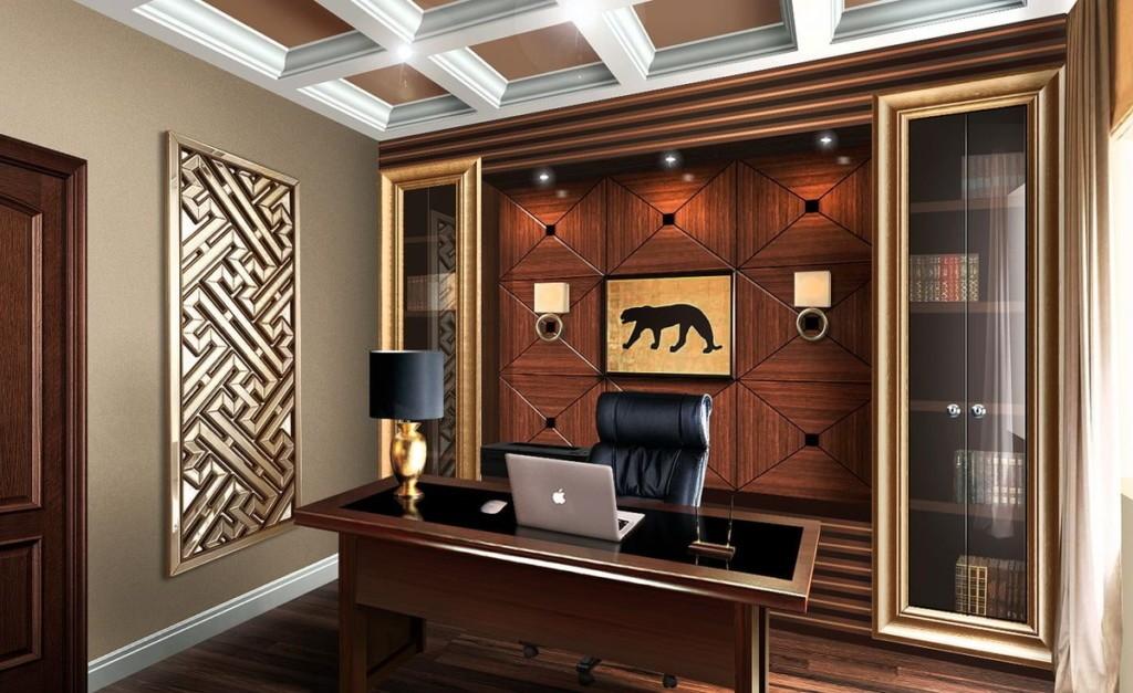 Дизайн рабочего кабинета в стиле арт деко