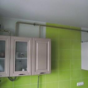 как спрятать газовую трубу на кухне декор