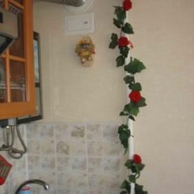 как спрятать газовую трубу на кухне декор идеи