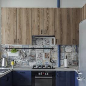 как спрятать газовую трубу на кухне дизайн