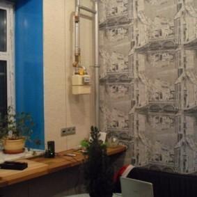 как спрятать газовую трубу на кухне фото декора