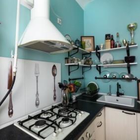 как спрятать газовую трубу на кухне фото виды