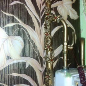 как спрятать газовую трубу на кухне идеи интерьера