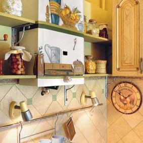 как спрятать газовую трубу на кухне интерьер фото