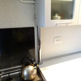 как спрятать газовую трубу на кухне оформление идеи