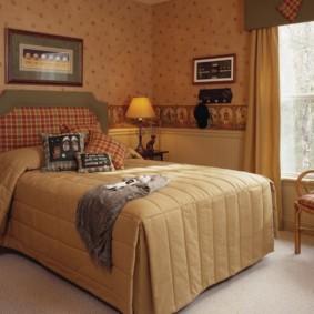Оформление спальни в квартире в стиле кантри