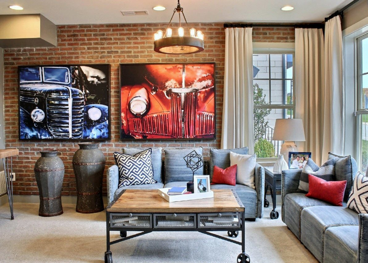 кирпичная кладка в квартире идеи декор