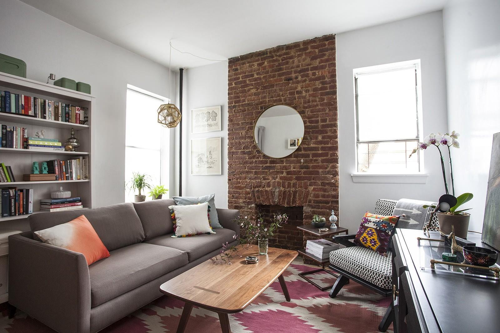 кирпичная кладка в квартире идеи фото