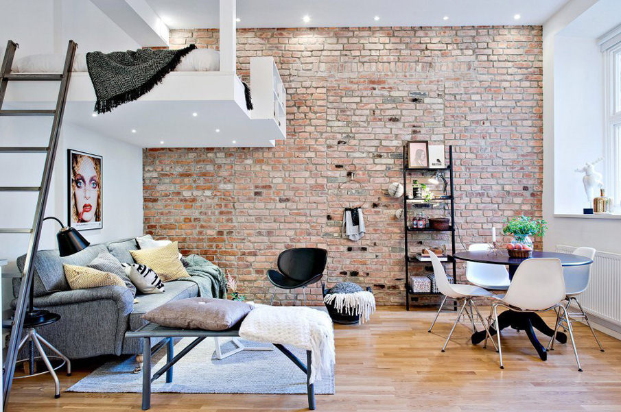 кирпичная кладка в квартире идеи вариантов