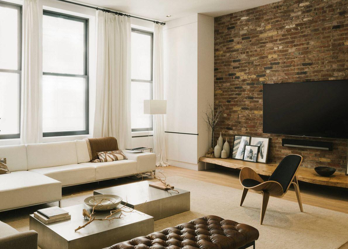 кирпичная кладка в квартире дизайн фото