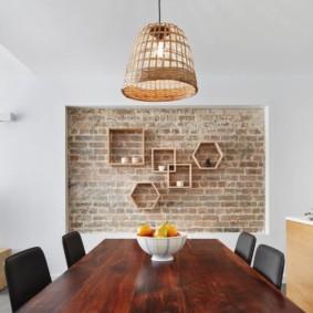 кирпичная кладка в квартире фото декора