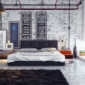 кирпичная стена в гостиной варианты идеи