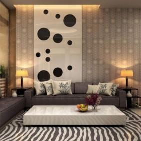 комбинирование обоев в гостиной дизайн идеи