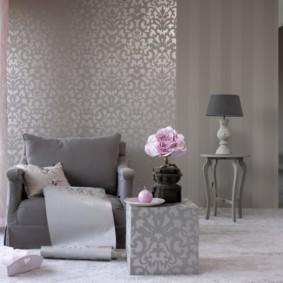 комбинирование обоев в гостиной идеи дизайн