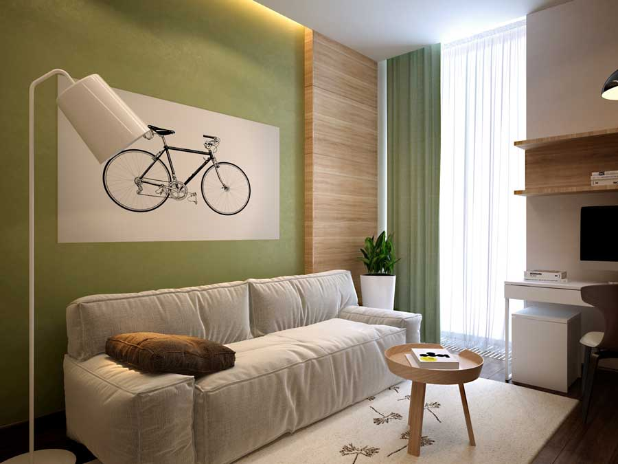 спальня 10 кв м с диваном