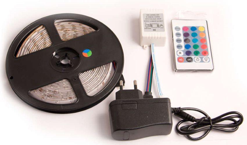 Комплект для организации светодиодной подсветки кухонного фартука