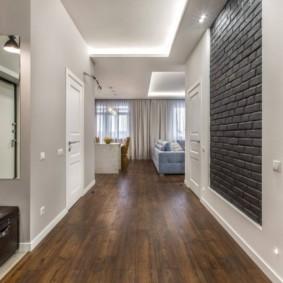 коридор с линолеумом фото идеи