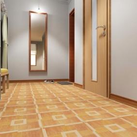 коридор с линолеумом интерьер фото