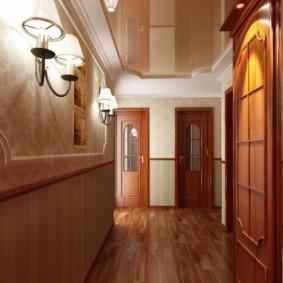 длинный коридор в квартире красивый дизайн