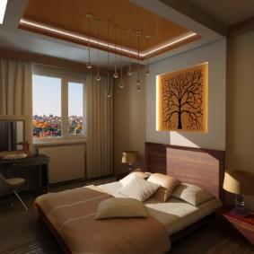красивый дизайн спальни 12 кв м