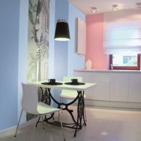 краска для кухни фото интерьера