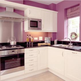 краска для кухни фиолетовая