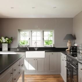 кухня без верхних шкафов фото дизайн