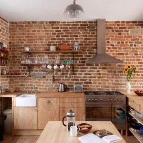 кухня без верхних шкафов идеи декор