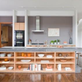 кухня без верхних шкафов идеи дизайна
