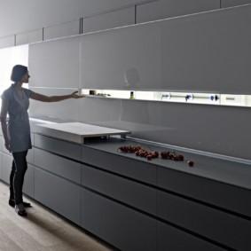 кухня без верхних шкафов идеи интерьер
