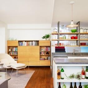 кухня без верхних шкафов идеи интерьера