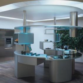 кухня без верхних шкафов идеи планировка