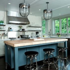 кухня без верхних шкафов интерьер дизайн