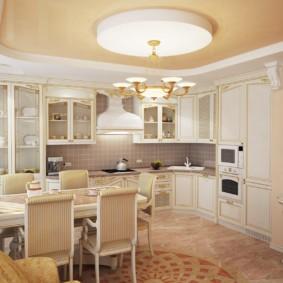 кухня до потолка декор