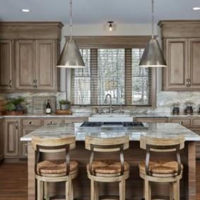 кухня до потолка дизайн