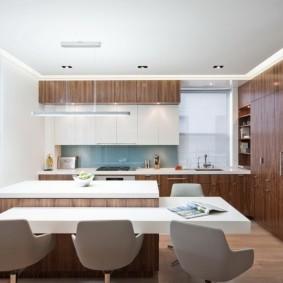 кухня до потолка дизайн фото