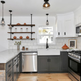 кухня до потолка дизайн идеи