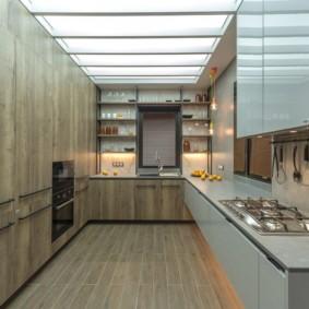 кухня до потолка фото виды