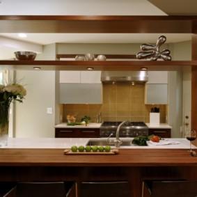 кухня до потолка идеи фото
