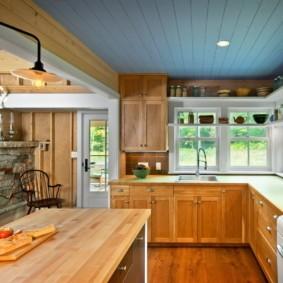 кухня до потолка оформление