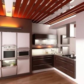 кухня до потолка оформление фото