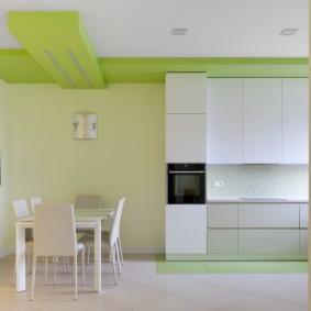 кухня до потолка виды