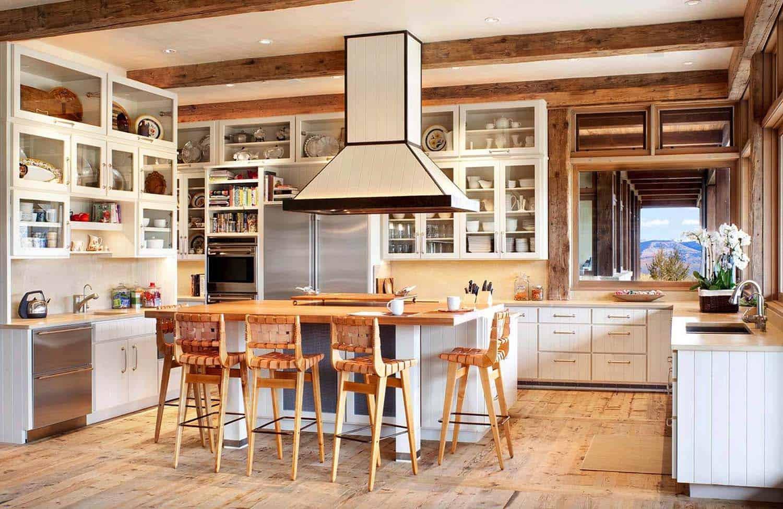 кухня до потолка в интерьере
