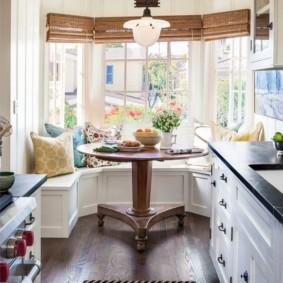 кухня с эркером фото дизайна